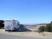 Campsite overlooking the track