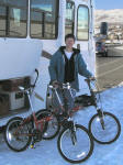 First stop in Reno was to pick up a pair of folding bikes I'd tracked down via the internet.