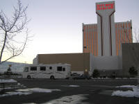 We kamped at the Reno KOA, which was literally in the Hilton casino hotel parking lot.
